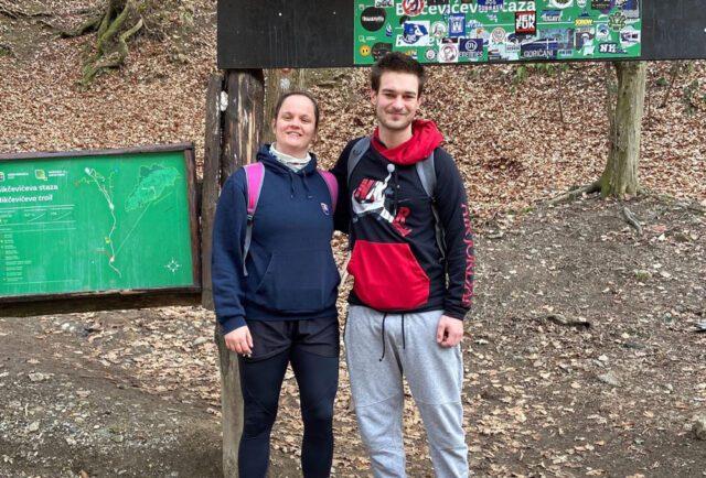 Welcoming volunteers, hiking to Sljeme