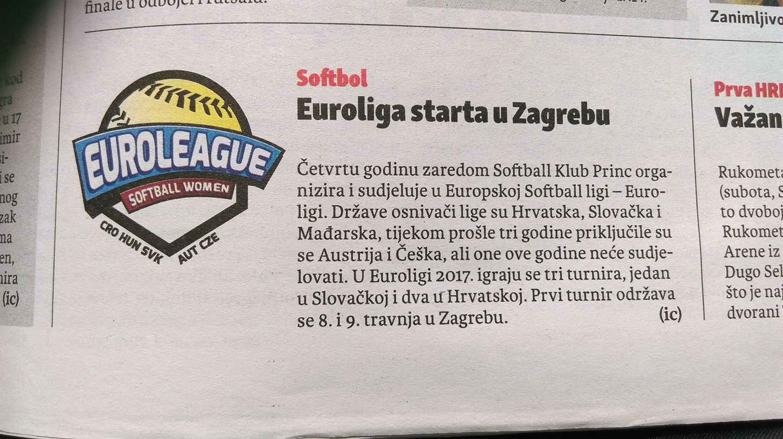 Zagrebački list 25. Ožujka 2017.