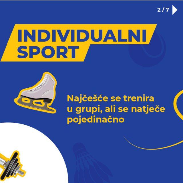 Individualni sport se trenira u grupi