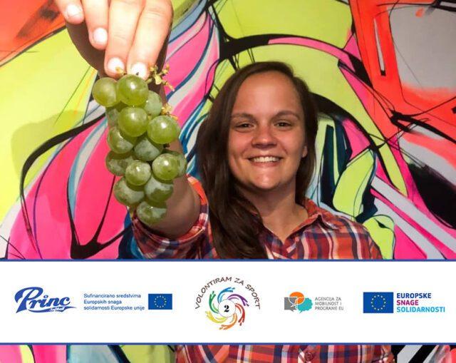 Lenka – volunteer on project Volunteering for sport, vol. 2