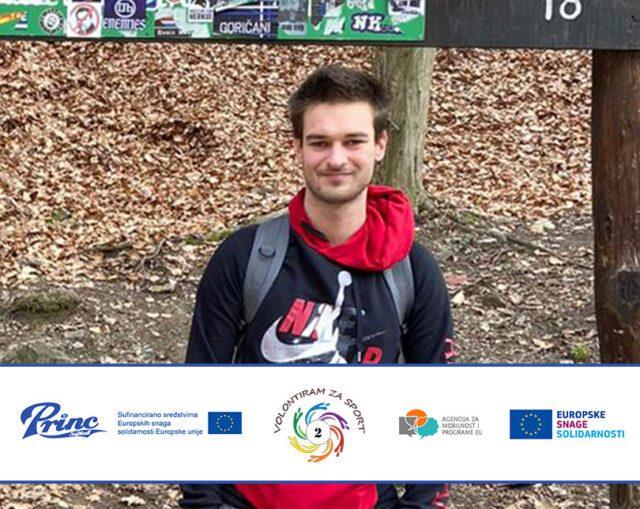 Patrik – volunteer on our project Volunteering for sport, vol. 2