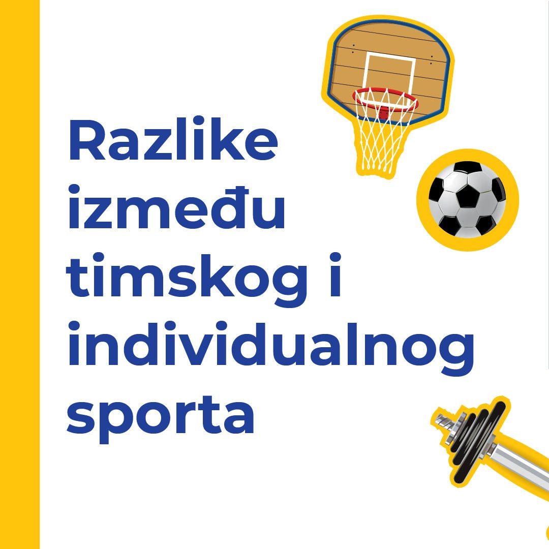 Razlike između timskog i individualnog sporta