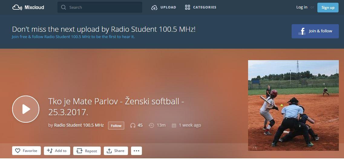 Softball club Princ on Radio Student
