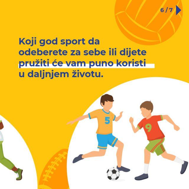 Odaberite sport za dijete pruža koristi