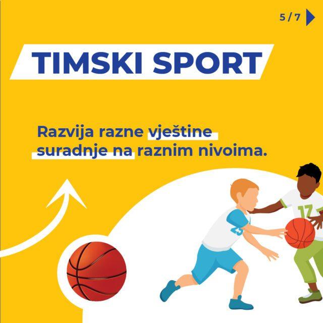 Timski sport razvija vještine suradnje